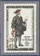 Type MonTimbraMoi Monde Journée Du Timbre 1975 N°1838 Entier Journée Du Timbre 1961 N°1285 Facteur La Petite Poste Paris - PAP:  Varia (1995-...)