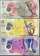 Maldives Set 3 UNC 5 10 20 Rufiyaa 2015/2017 Polymer P 26A (A26) 26 27 - Maldives