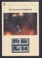 """2009  Komoren WWF  """"Der Komoren-Flughund""""  Komplettes Kapitel - Collections, Lots & Series"""