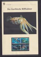 """2009  Nevis  WWF  """"Der Karabische Riffkalmar""""  Komplettes Kapitel - Collections, Lots & Series"""