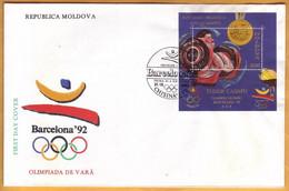 1992 Moldova Moldavie Moldau;  FDC  Olympic Games. Barcelona 92. Olympic Champions Moldova.  Casapu - Ete 1992: Barcelone
