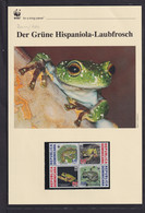 "2011  Dominikanische Republik  WWF  ""Der Grüne Hispaiola Laubfrosch""  Komplettes Kapitel - Lots & Serien"
