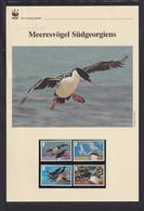 "2012  Süd Georgien Und Sandwich-Inseln WWF  ""Meeresvögel Südgeorgiens""  Komplettes Kapitel - Lots & Serien"