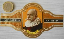 F53 Lot Bagues De Cigares  Verellen Antwerp  Choisi Personnage Historique - Anelli Da Sigari