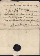 1766 Cachet Cire Croix Lettre M Le Bailly De Froullay Ambassadeur Ordre De Malte Près Du Roi Sceau Pr Commandeur Fargues - 1701-1800: Precursori XVIII
