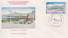 Enveloppe   FDC   1er   Jour   NOUVELLE   CALEDONIE   Aérogare  De   La  Tontouta    1977 - FDC
