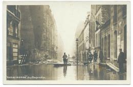 CPA PARIS INONDATIONS DE 1910 / LA GRANDE CRUE DE LA SEINE / RUE TRAVERSIERE / NEUVE - De Overstroming Van 1910