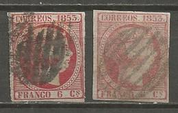 SPAIN 1854 Used Stamps Mi.# 17 - Usados