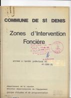 REUNION  PLAN COMMUNE DE SAINT DENIS  ZONE D'INTERVENTION FON CIERE1976 - Wereld