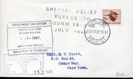 RSA - Republik Südafrika - 1st Definitive Issue - Special Paquebot Letter - SANAE - Antarctic Expedition Gough Island - Covers & Documents