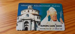 Phonecard Croatia - Pope, English Text - Croazia