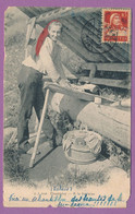 CHAMPERY - A La Fontaine - Circulé 1920 - VS Valais