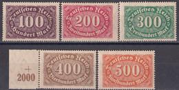 Deutsches Reich 1922 - Mi.Nr. 219 - 223 - Postfrisch MNH - Nuevos