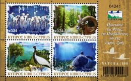 Cyprus - 2021 - Fauna Of Cyprus - Natura 2000 - Mint Stamp Sheetlet - Nuovi