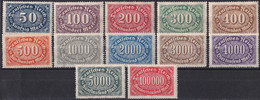 Deutsches Reich 1922/23 - Mi.Nr. 246 - 257 - Postfrisch MNH - Nuevos