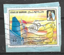 USED STAMPS BAHRAIN ON PIECE - Bahreïn (1965-...)