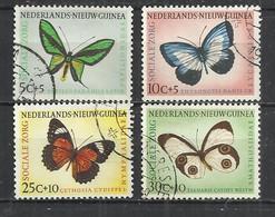 NETHERLANDS NEW GUINEA 1960 - BUTTERFLIES - CPL. SET -  - USED OBLITERE GESTEMPELT USADO - Nouvelle Guinée Néerlandaise
