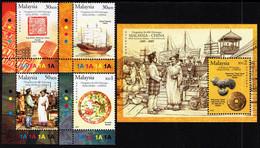 Malaysia - 2005 - 600th Anniversary Of Malaysia-China Relations - Mint Stamp Set + Souvenir Sheet - Maleisië (1964-...)