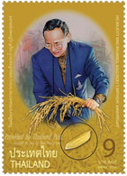 Thailand 2010, 83th Birthday Of His Majesty King Bhumibol Adulyadej's With Real Rize Corn, MNH Unusual Single Stamp - Thailand