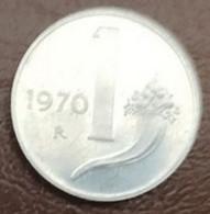 ITALIA REPUBBLICA  1970 LIRE 1 BB - 1 Lira
