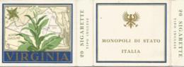 JJ / BOITE CIGARETTE VIRGINIA Monopoli Di Stato ITALIE Italia 20 SIGARETTE - Etichette