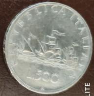 ITALIA REPUBBLICA  1960 LIRE 500 B CARAVELLE - 500 Lire