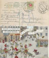 """Taxierte AK  """"Triest E La Bora - Mercato Pericolante"""" - Zürich           1909 - Covers & Documents"""