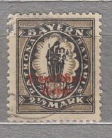 GERMANY Expertise Gepruft Bayern Madonna Overprinted 1920 Mi 133 II Used(o) #30274 - Usati