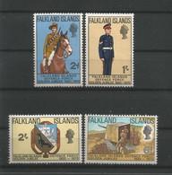 Falkland 1970 Defence Force Golden Jubilee Y.T. 182/185 ** - Falklandinseln
