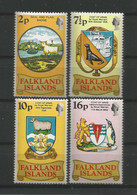 Falkland 1975 50th Anniv. Of Seal And Flag Badge Y.T. 235/238 ** - Falklandinseln