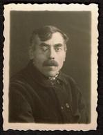 Photo Originale - Photobooth - Photo Identité - Photomaton - Homme Avec Un Oeil De Verre - Moustache - Voir Scan - Persone Anonimi