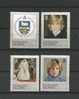 Falkland 1982 21st Birthday Of Princess Diana Y.T. 348/351 ** - Falklandinseln