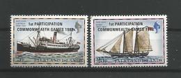 Falkland 1982 1st Participation Commonwealth Games Y.T. 368/369 ** - Falklandinseln