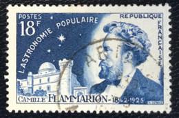France - République Française - W1/9 - (°)used - 1956 - Michel 1085 - Camille Flammarion - Usati