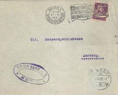 "Motiv Brief  ""Union Bank, Bern""           1921 - Covers & Documents"