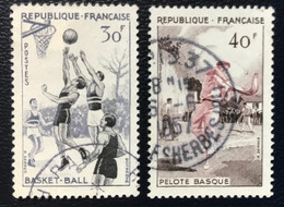 France - République Française - W1/9 - (°)used - 1956 - Michel 1100-1101 - Sport - Usati