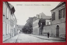 CPA - Orthez  -  Couvent De La Visitation Et Rue St Gilles - Orthez