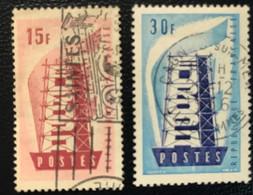 France - République Française - W1/9 - (°)used - 1956 - Michel 1104-1105 - Europa - Steigers - Usati
