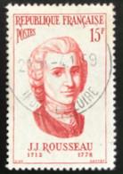 France - République Française - W1/10 - (°)used - 1956 - Michel 1112 - J.J. Rousseau - Usati