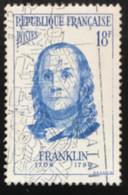 France - République Française - W1/10 - (°)used - 1956 - Michel 1113 - Benjamin Franklin - Usati