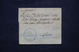 """ITALIE - Lettre Pour Torino Avec Cachet """" C 15  Ange à Cheval """" - L 102165 - ...-1850 Voorfilatelie"""