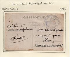 HAUTE SAONE   :   Train Semi-Permanent N° 41  à GRAY - WW I
