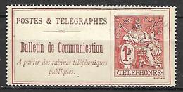 FRANCE     -   Téléphone   -  1900 .  Y&T N° 29 Oblitéré - Telegrafi E Telefoni