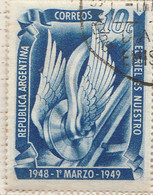 PIA - ARGENTINA - 1949 : 1° Anniversario Del Riscatto Delle Ferrovie Dalle Compagnie Straniere - (Yv 500)  - - Gebruikt