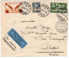Suisse: Lettre Par Avion Vers L'Algérie (1931) - Altri Documenti