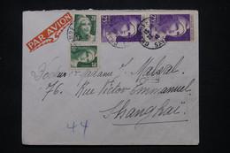 FRANCE - Enveloppe De Chambéry Pour Shanghai En 1946, Affranchissement Gandon 20f X 2 + 25f X 2- L 102181 - 1921-1960: Modern Tijdperk