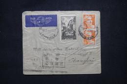 FRANCE - Enveloppe De Dijon Pour Shanghai En 1946, Affranchissement Gandon 10f En Paire + Oradour - L 102182 - 1921-1960: Modern Tijdperk