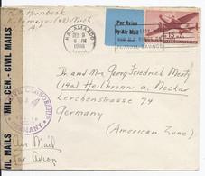 USA (002761) Luftpostbrief Mit Militär Zensur, Gelaufen Kalamazoo Am 9.12.1946 - Covers & Documents