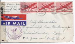 USA (002763) Luftpostbrief Mit Militär Zensur, Gelaufen Chicago Am 11.12.1946 - Covers & Documents