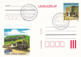 Ungarn Hongary Hongrie Stationery Card, 1991 100th Anniversary Of The Train/Locomotive FDC - Trains
